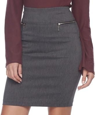 Juniors' Joe B Zipper Pocket Pencil Skirt