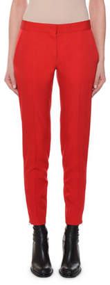 Stella McCartney Flat-Front Slim-Leg Ankle Pants