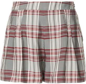 Markus Lupfer plaid high-waisted shorts