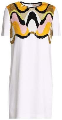 Emilio Pucci Sequin-Embellished Crepe Mini Dress