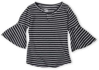 Star Ride Kids (Girls 4-6x) Striped Bell Sleeve Top