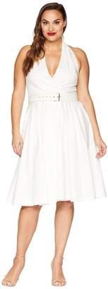 Unique Vintage Plus Size Halter Tarrytown Hostess Dress Women's Dress