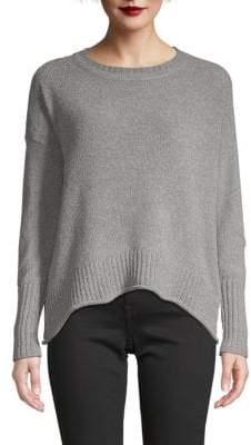 Saks Fifth Avenue Chenile Boxy High-Low Sweater