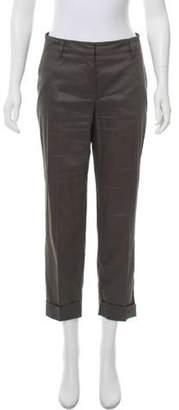 Prada Straight-Leg Cropped Pants Grey Straight-Leg Cropped Pants