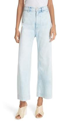 Rebecca Taylor Crop Wide Leg Jeans