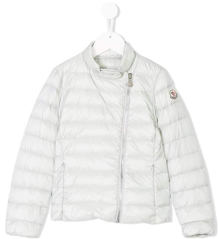 snap-collar padded jacket