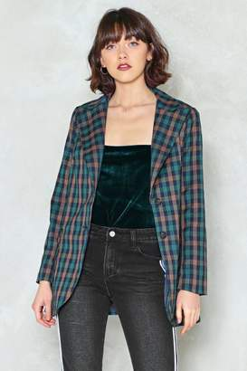 Nasty Gal Hit the Check Blazer