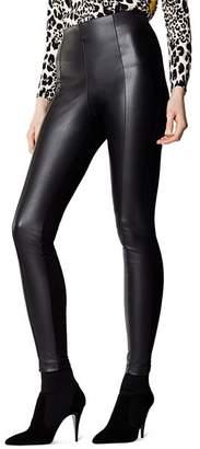 Karen Millen Faux-Leather Front Leggings