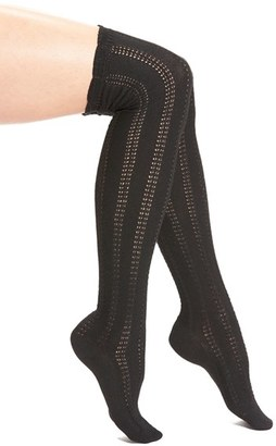 Free People 'Fray' Openwork Knit Over the Knee Socks $24 thestylecure.com