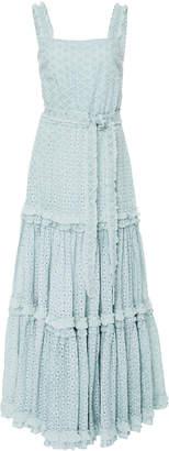 Alexis Milada Ruffled Broderie Anglaise Cotton Maxi Dress