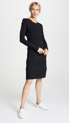 Carven Ruffle Trim Sweater Dress