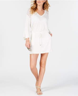 Calvin Klein Bell-Sleeve Tunic Cover-Up Women Swimsuit