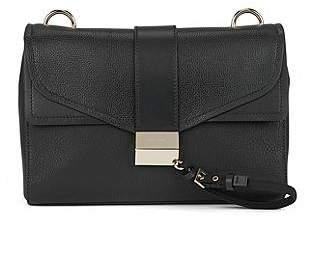 HUGO BOSS Shoulder bag in smooth Italian leather