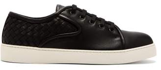 Bottega Veneta Dodger Lace Up Leather Trainers - Mens - Black