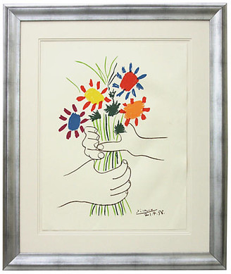 Munn Works Pablo Picasso - Hands with Flowers Art