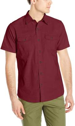 G.H. Bass & Co. Men's Short Sleeve Solid Pigment Dyed Shirt