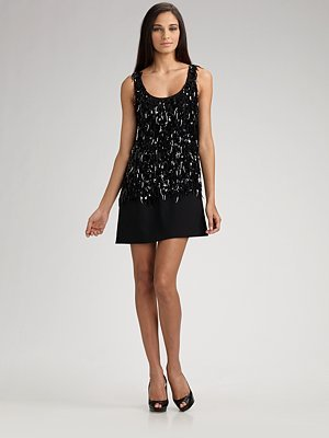 Theory Solani Glitter Mini Dress