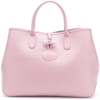 Longchamp metallic lock tote bag