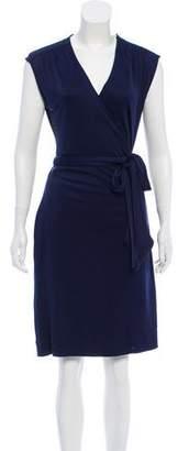 Tory Burch Silk Wrap Knee-Length Dress