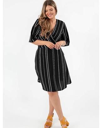 b3d6f861f9a7b Lovedrobe Gb Lovedrobe GB Satin Monochrome Wrap Dress