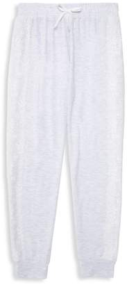 Ella Moss Girl's Lace-Overlay Joggers