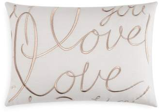 "Matouk Love Decorative Pillow, 15"" x 21"""