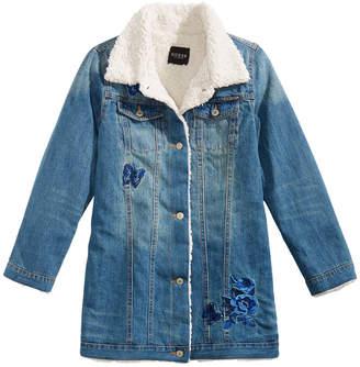 GUESS Big Girls Faux Fur Denim Jacket