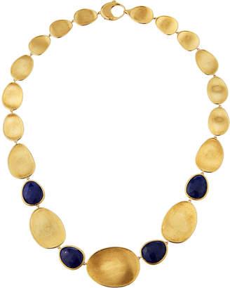 Marco Bicego Lunaria Medium 18k Gold & Lapis Collar Necklace