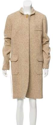 Brunello Cucinelli Wool Donegal Knit Coat w/ Tags