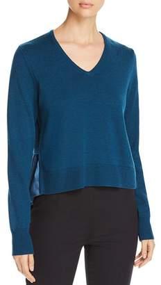 Elie Tahari Deangelo Mixed Media Sweater