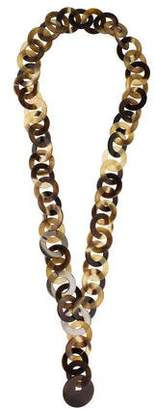 Hermes Horn Chain-Link Necklace