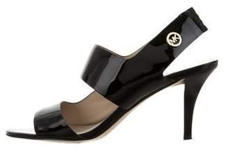 MICHAEL Michael Kors Slingback Patent Leather Sandals