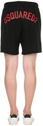 DSQUARED2 Logo Printed Cotton Jersey Shorts