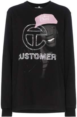Telfar Graphic Print Sweatshirt