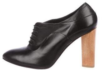The Office of Angela Scott Leather Round-Toe Booties