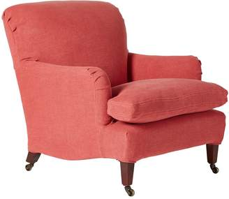 OKA Linen Loose Cover For Coleridge Armchair - Coral