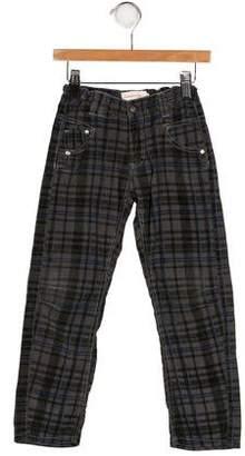 Deux Par Deux Boys' Plaid Pants