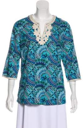 Tommy Bahama Printed Long Sleeve Top