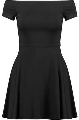 Alice + Olivia Alice+olivia Carisi Off-The-Shoulder Stretch-Ponte Mini Dress