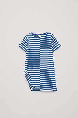 Cos STRIPED SHORT-SLEEVED DRESS