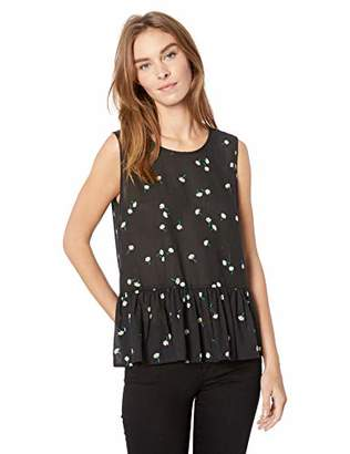 Velvet by Graham & Spencer Women's Simora Sheer Printed Gauze Tank