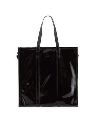 Balenciaga Bazar Medium Patent Shopper Tote Bag $1,895 thestylecure.com