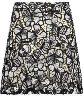 Alice + Olivia Riley Floral-Lace Mini Skirt
