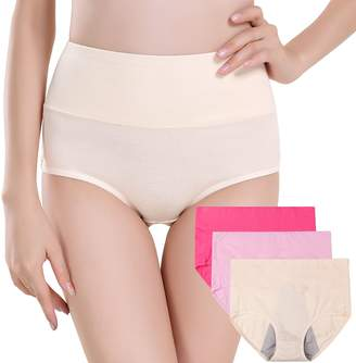 7ac93396b164 INNERSY Women's 3 Pack High Cut Postpartum Menstrual Period Protective  C-Section Cotton Panties Underwear