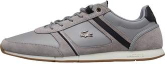 c782c1ee9 Lacoste Grey Leather Shoes For Men - ShopStyle UK