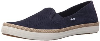 Keds Women's Crashback Perf Suede with Jute Fashion Sneaker $60 thestylecure.com
