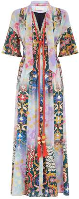 Peter Pilotto Tapestry Print Tie Neck Dress