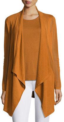 Neiman Marcus Cashmere Collection Piqué-Knit Cashmere Cardigan $325 thestylecure.com