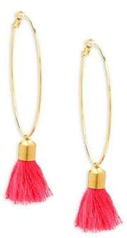 Panacea Hoop Tassel Earrings