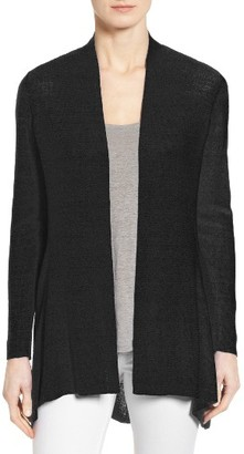 Women's Eileen Fisher Shaped Organic Linen Blend Cardigan $318 thestylecure.com
